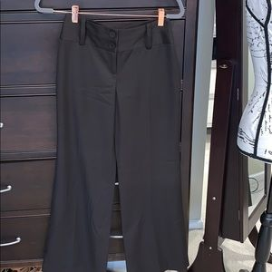 Ann Taylor signature fit dark brown wide leg lined